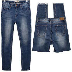 K's more Straight Frayed Bottom Jeans